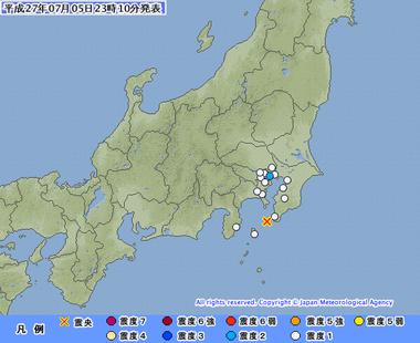 伊豆大島近海 地震 07052306