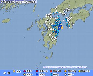 日向灘 地震 画像 201610220333