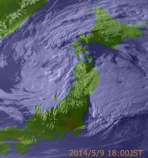 地震予知 地震雲0511