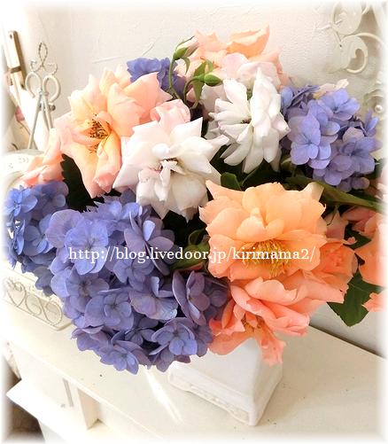 薔薇と紫陽花2