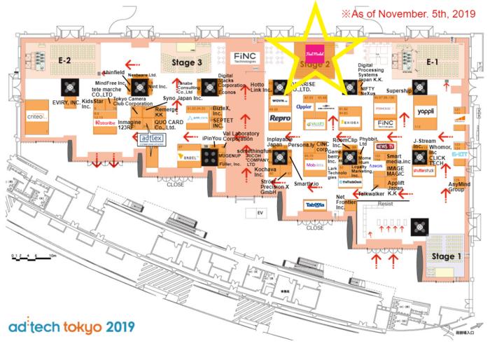 adtech tokyo 2019 フロアマップ