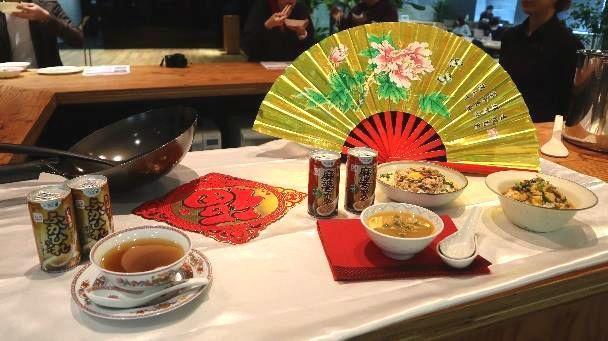 「旨辛 麻婆スープ」商品発表会の展示