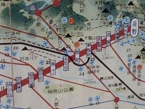 武蔵野鉄道路線図