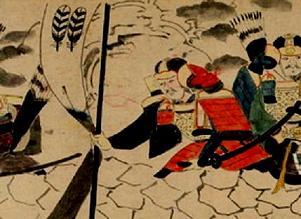 蒙古襲来絵詞菊池家紋