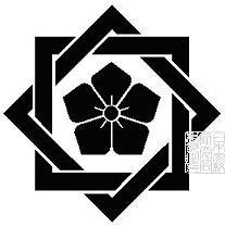 組み合い角に桔梗2