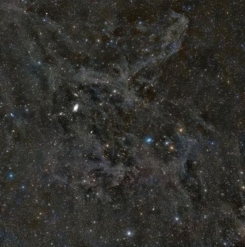 北天分子雲とアトラス彗星2