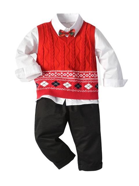 3-pieces-kid-boy-set-bowtie-shirt-graphic-knit-vest-trousers