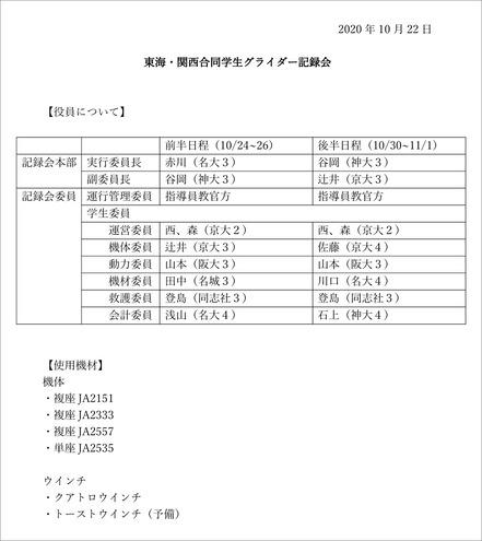 2020_東海関西合同記録会_学生役員