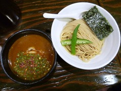 Fuji屋_納豆カレーつけ麺_201708