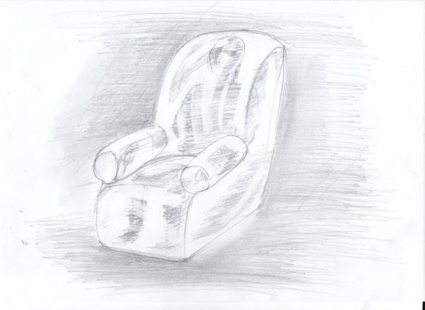 人間椅子スケッチ