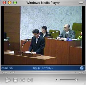 戸田市議会における神保国男市長(ライブ放送)