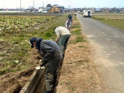 用水路の掃除