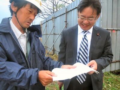 上野代議士と世継区長
