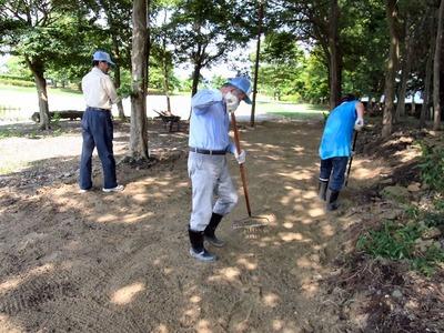 母の郷文化センターグランドゴルフ場整備2