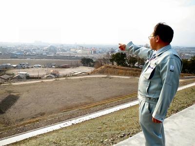 米原新配水場建設現場から
