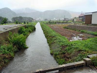 天野川の増水