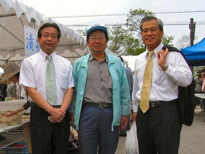 藤井代議士と泉市長