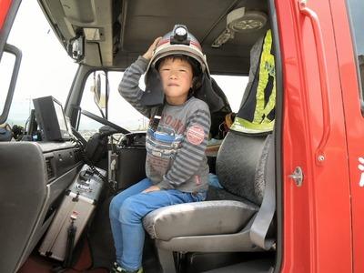 消防車(隊長の席)