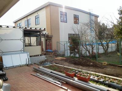 校舎増築現場