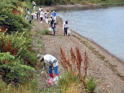 湖岸清掃南