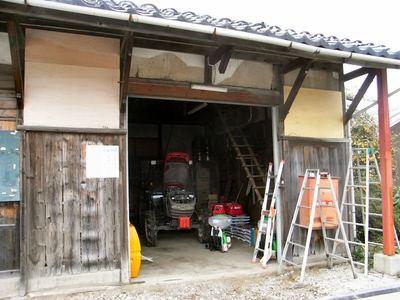 農業倉庫の補修4jpg