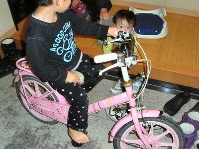 自転車修理後