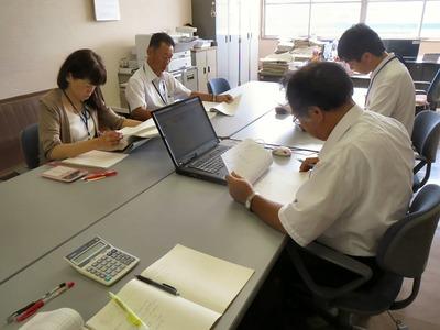 例月出納検査(会計室)