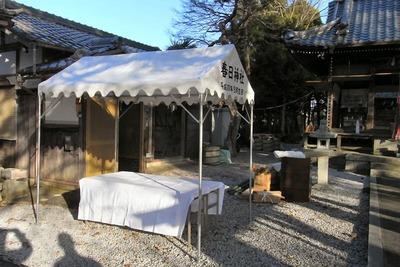 神社テント