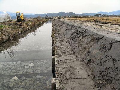 寺川水路改修1
