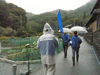 雨でも桃太郎