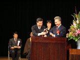 滝本市議会議長と西田助役