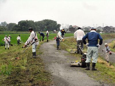 農道草刈り