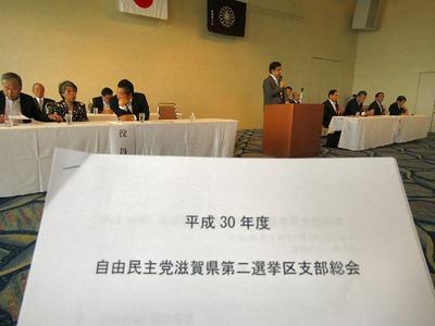 自民党第二選挙区支部総会