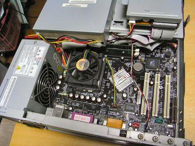 PC上蓋を開けた状態