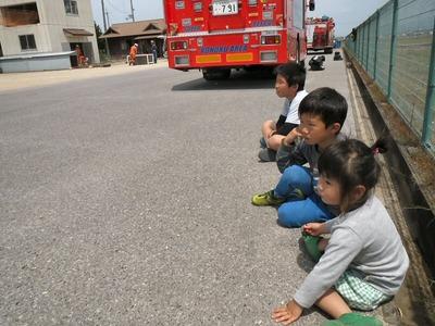消防訓練の見学