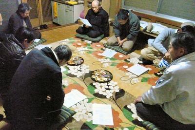 神社の玉垣改修説明会