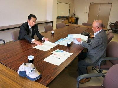 産業建設常任委員会正副委員長への説明