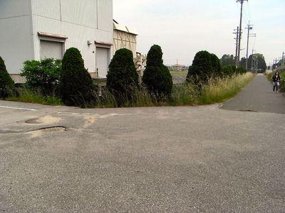 農道舗装破損箇所