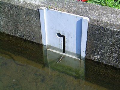 止水できない取水口