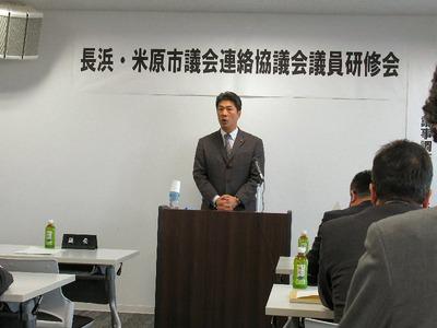 柴田清行長浜市議会議長