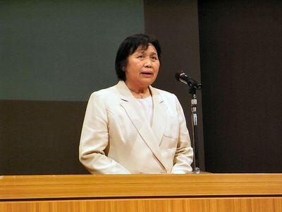 滋賀県地域女性団体連合会中野会長挨拶