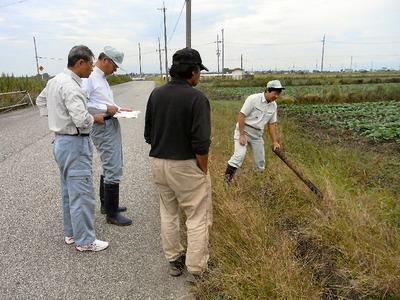 次郎町の用水路改修打ち合わせ