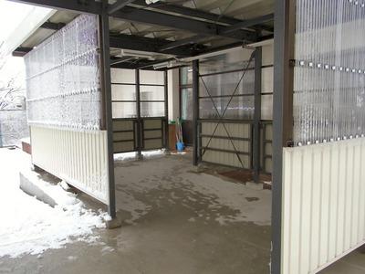 雪の渡り廊下