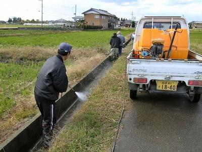 用水路の洗浄2