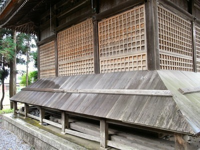 春日神社の台風対策