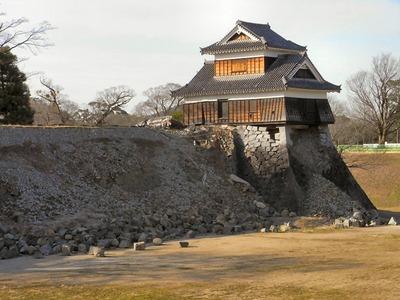 崩落した石垣