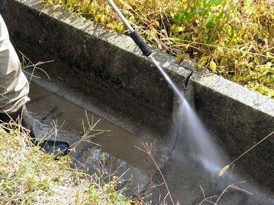 用水路の洗浄