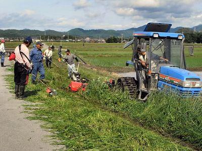 農道の草刈り