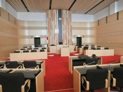 長浜市議会議場