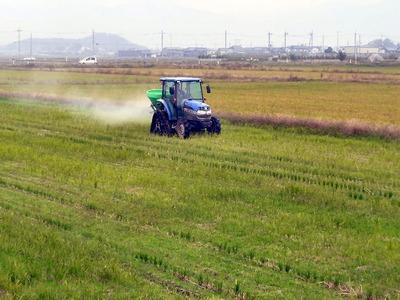 土壌改良資材散布